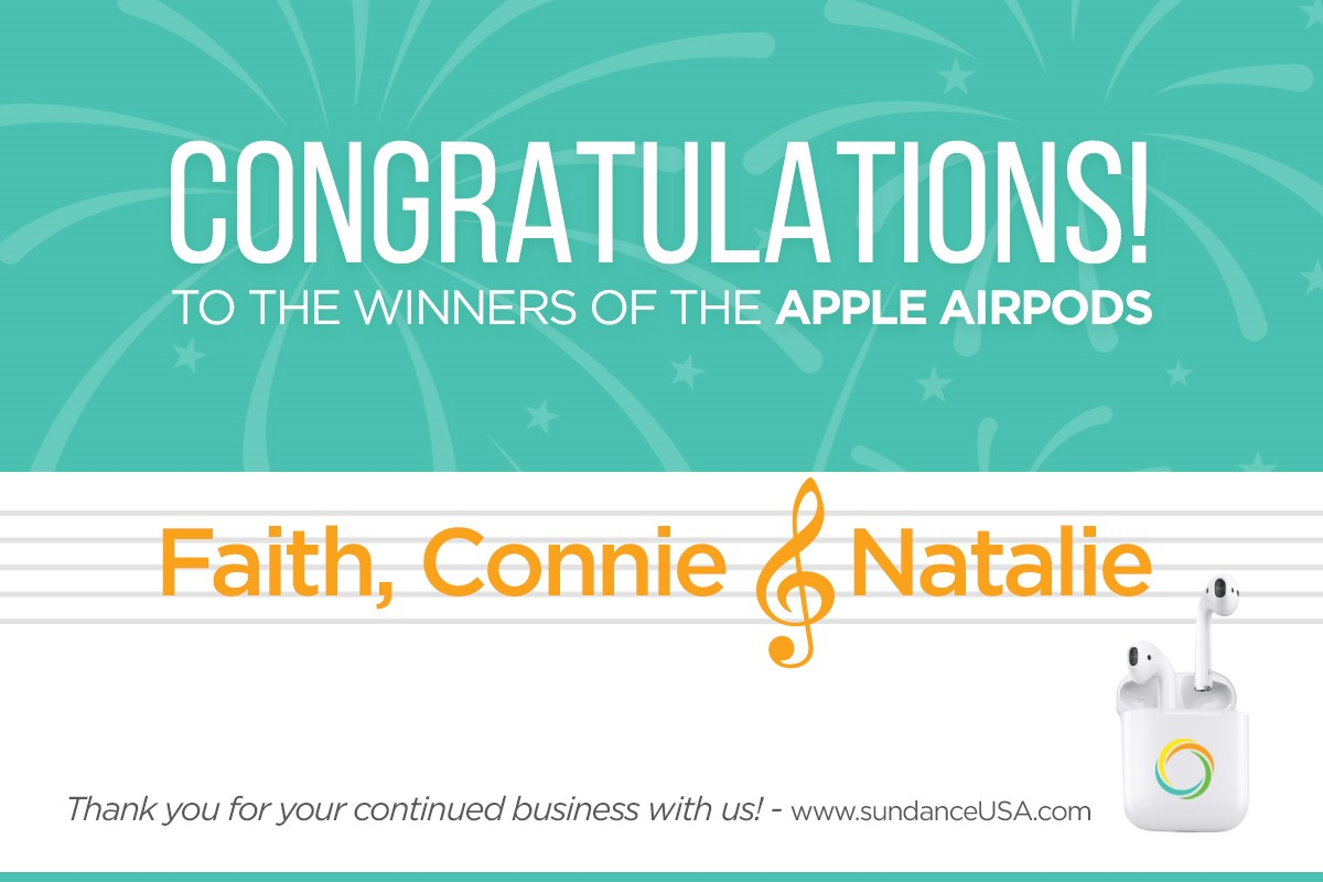Congratulations to Our Airpod Winners