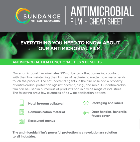 Antimicrobial Film Cheat Sheet