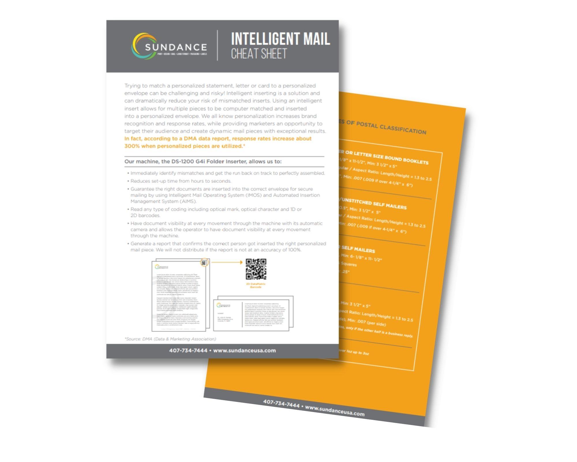 Intelligent Mail Cheat Sheet