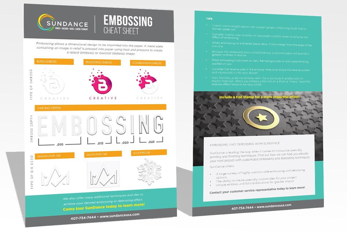 Cheat Sheet - Embossing