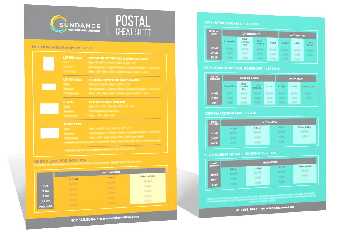 Postal Cheat Sheet