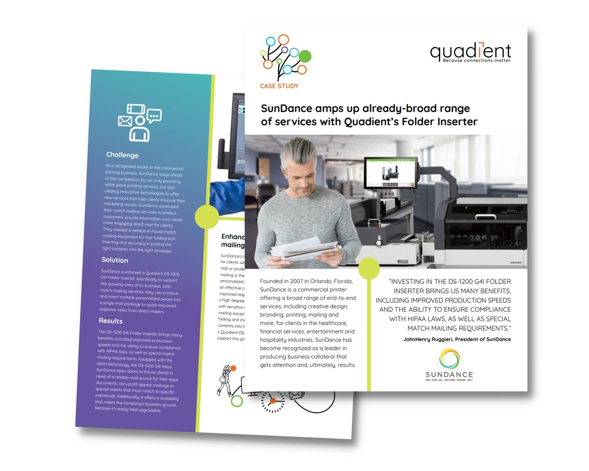 Quadient Case Study:SunDance amps up already-broad range of services with Quadient's Folder Inserter