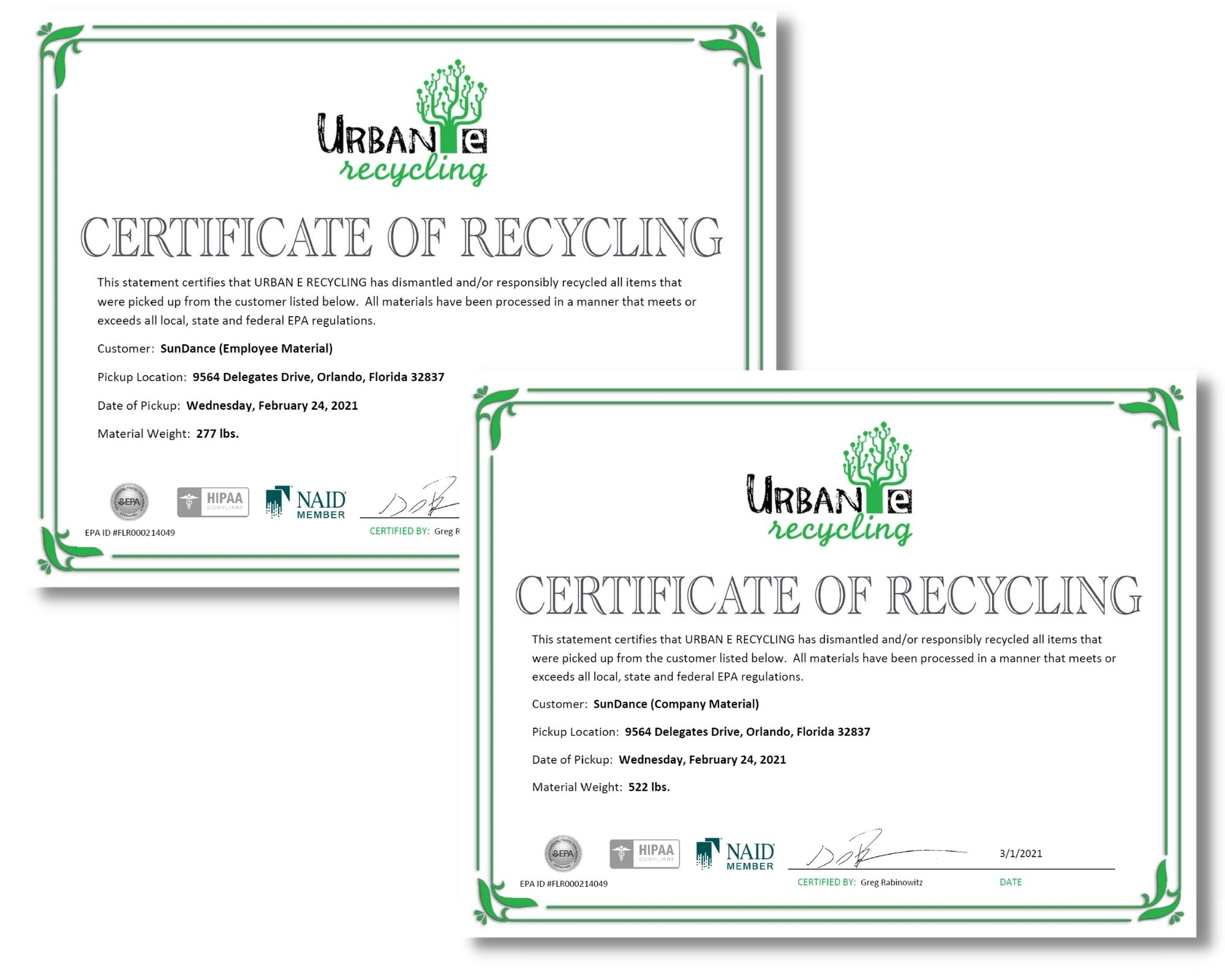 We Recycled 799 Pounds of Electronic Waste!