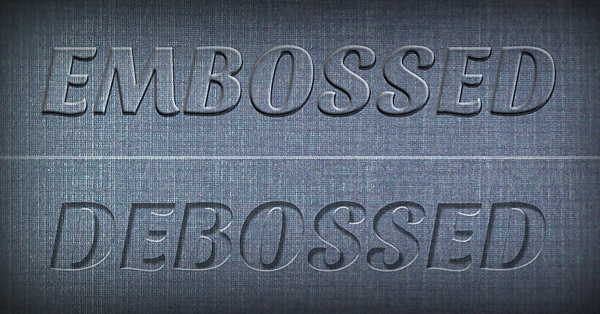 Embossing vs Debossing: What's the Difference?