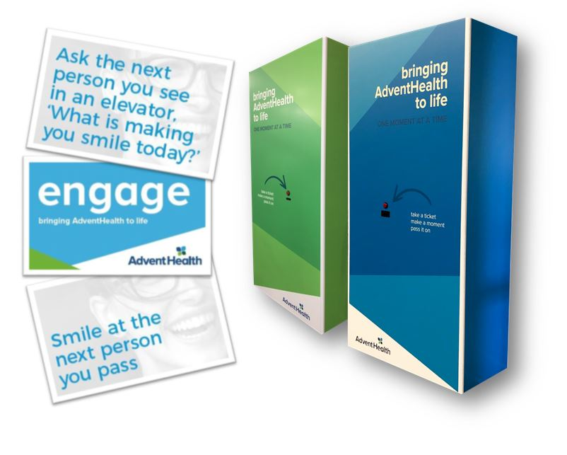 AdventHealth Interactive Card Booth