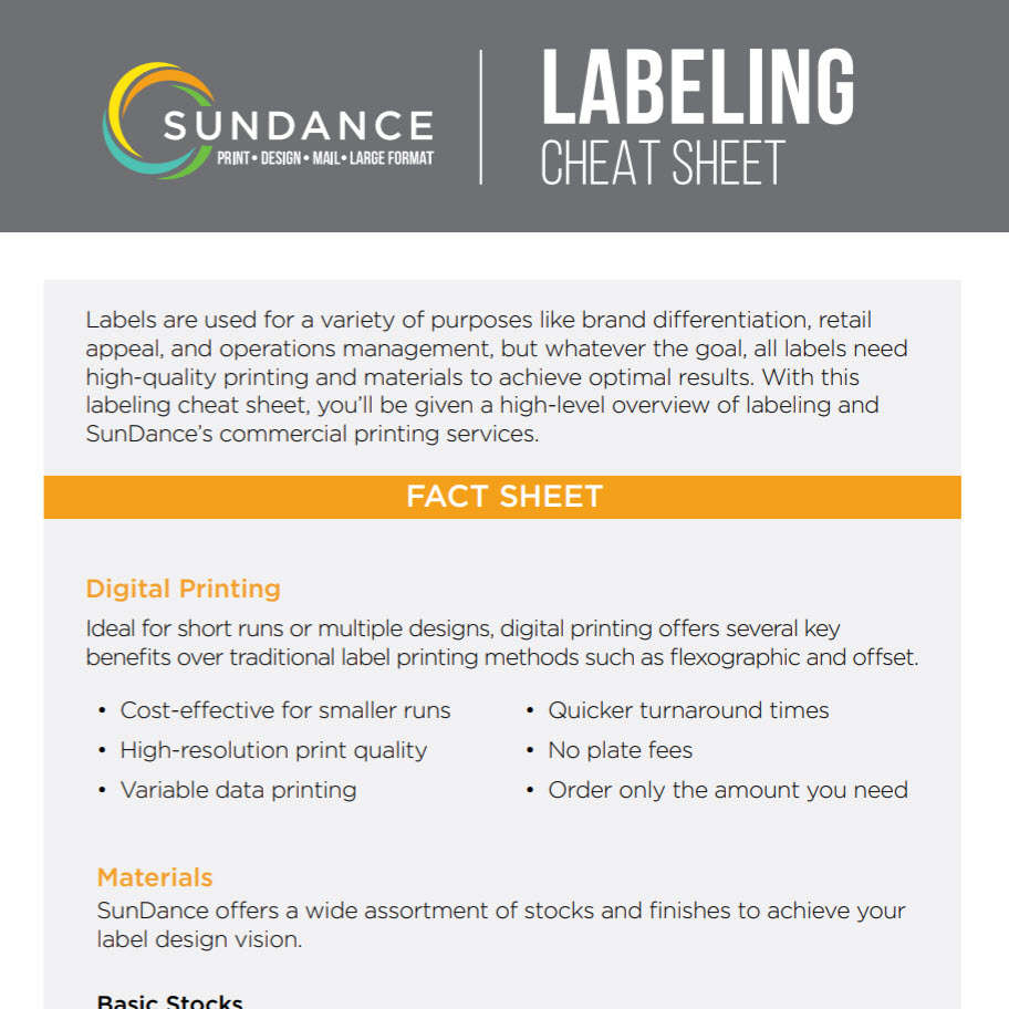 Labeling Cheat Sheet